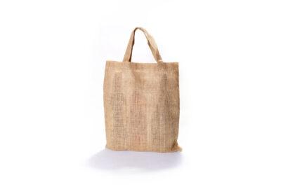 Jutová taška skrátkými páskovými uchy