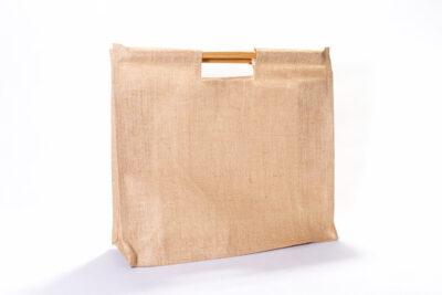 Jutová taška srovnou rukojetí