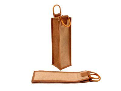 Jutová taška na 1 lahev