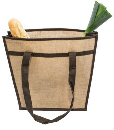 Jutová taška přes rameno