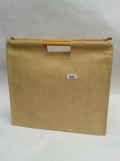 Jutová taška s rovnou rukojetí
